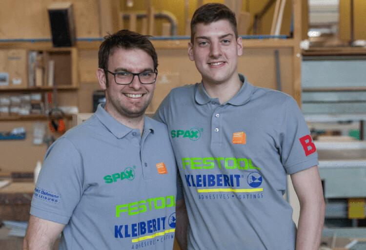 Florian Langenmair und Johannes Bänsch bei den World Skills 2019